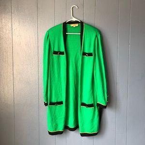 St. John STUNNING open long sweater cardigan